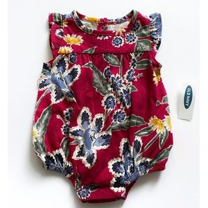 NWT Old Navy Floral Print Romper 0-3 Months